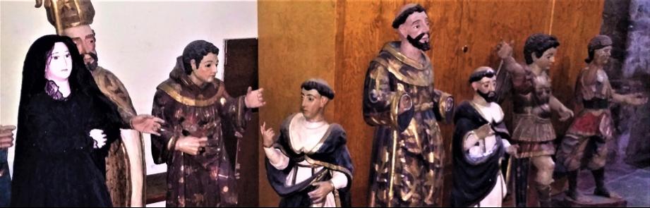 """San Pablo Oztotepec: Los santos comentan """"el templo amenaza ruina"""" y ruegan a San Francisco de Asís le sea restaurado."""