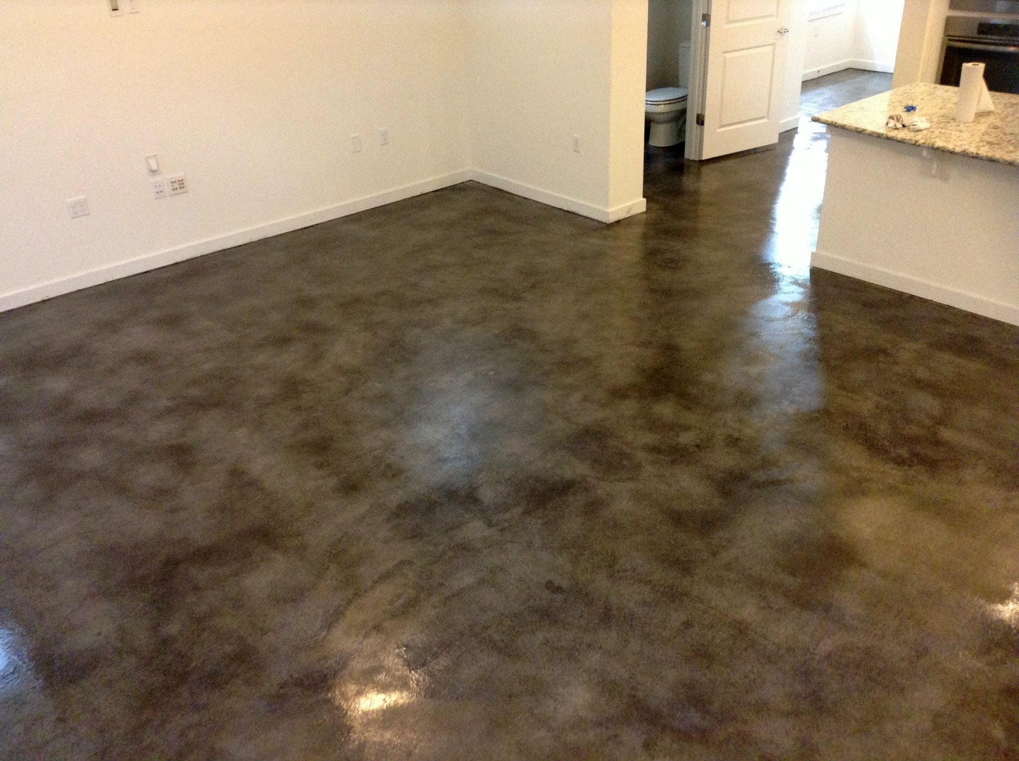 Gray Stained Floor