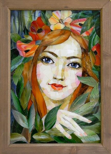 """""""Mavka"""" by Nataliya Guchenia Size - 16-1/2""""H X 11-1/2""""W $2,000.00"""
