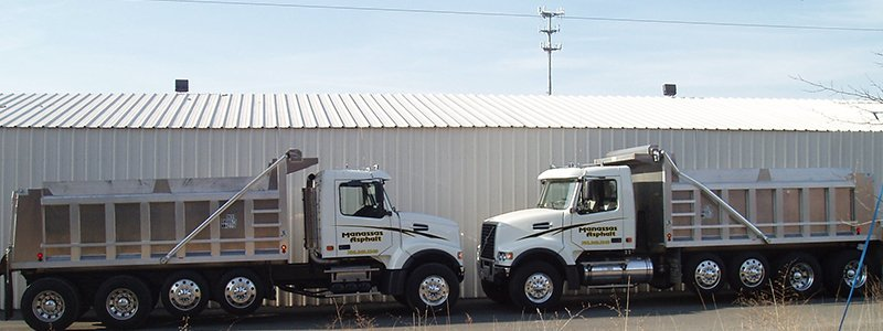 Manassas Asphalt Inc. trucks