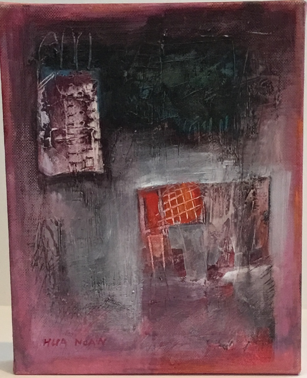 "Emergence acrylic on canvas 10"" X 8"" $150."