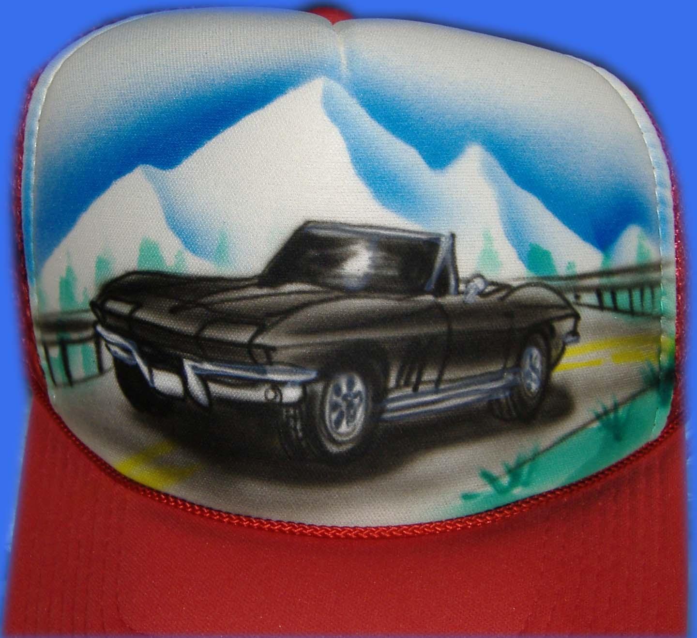 Airbrushed Vintage Car Hat