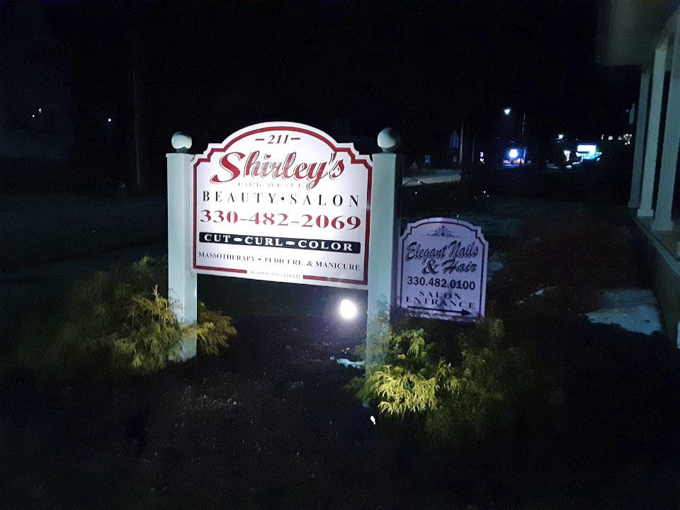 Shirley's Salon Sign Post