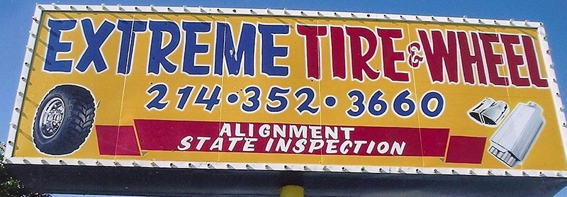 Extreme Tire and Wheel Signage