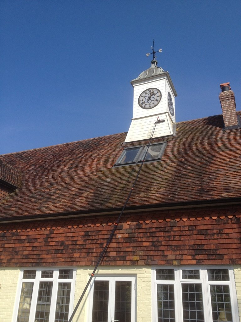 Feature Clock Tower Cladding Clean, Bidborough