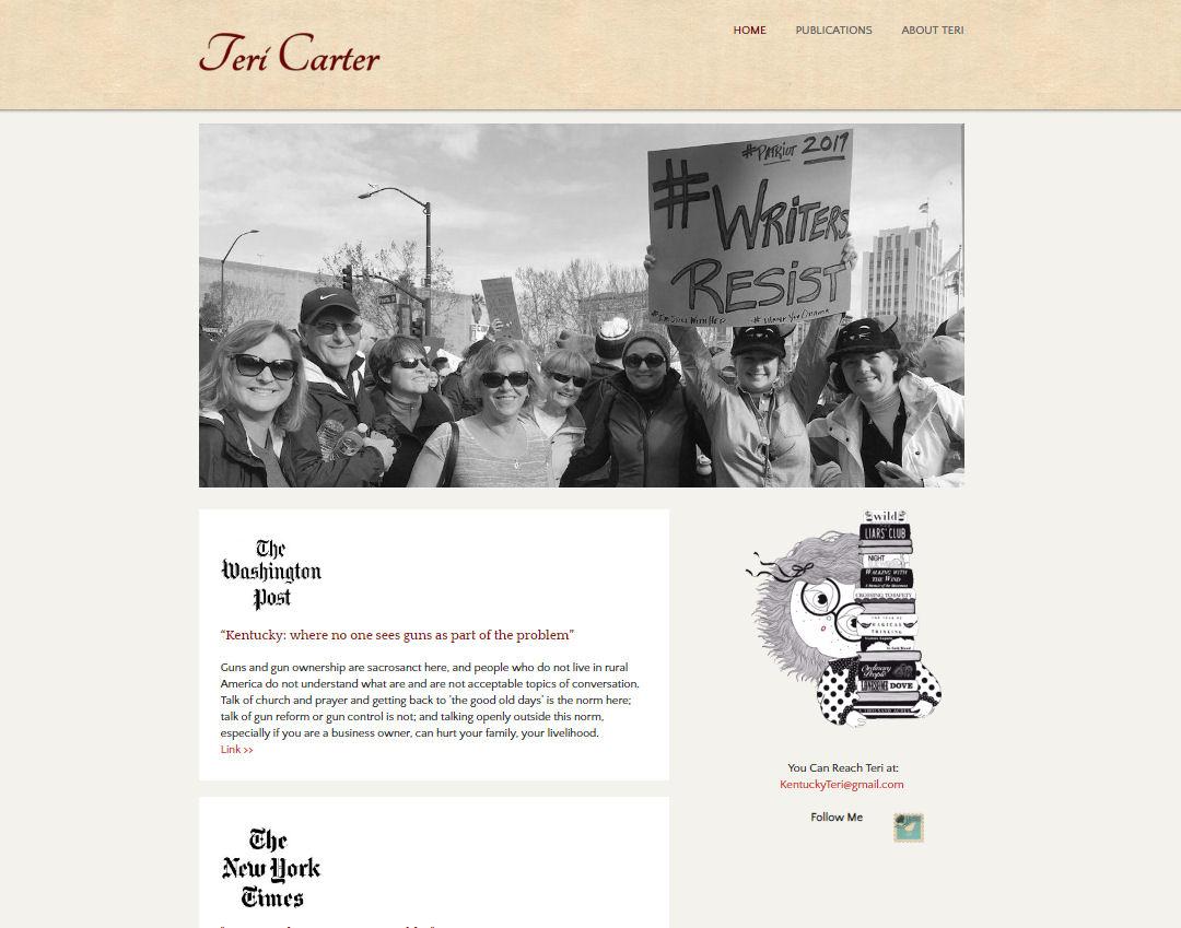 Teri Carter - Writer Website