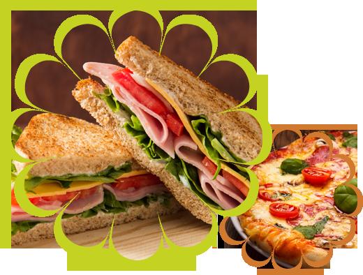 Sandwich Bread Tomato and Pizza
