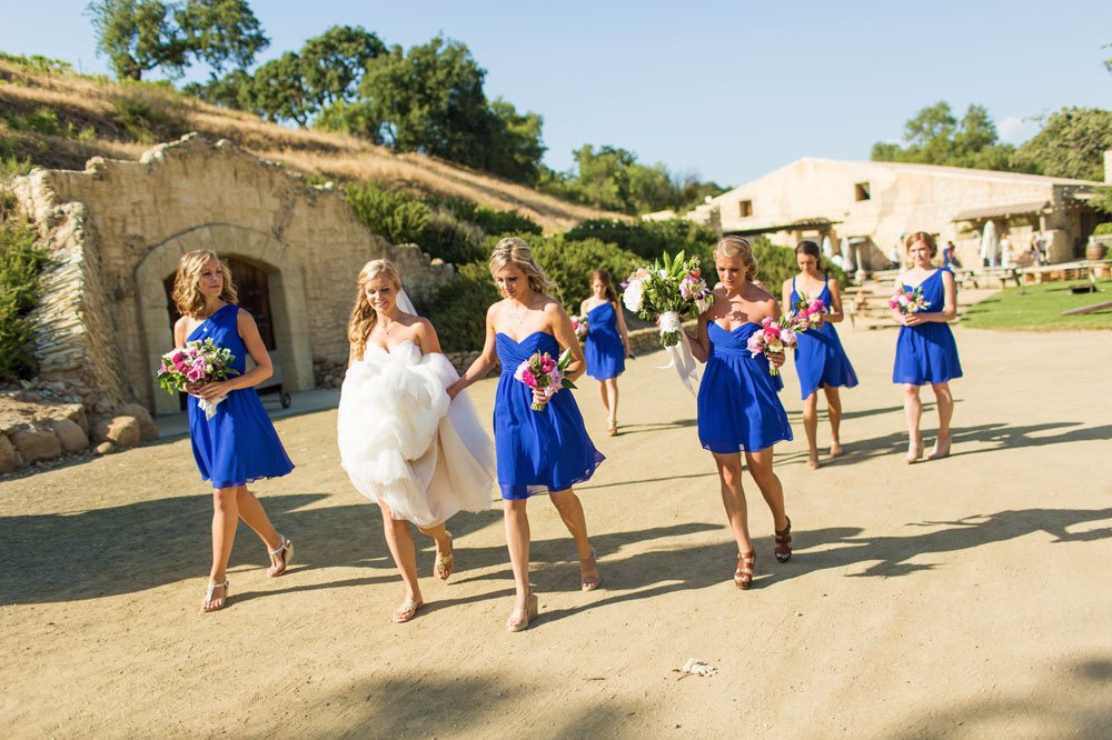 Kelly and her bridesmaids, Sunstone Winery and Villa, Santa Ynez