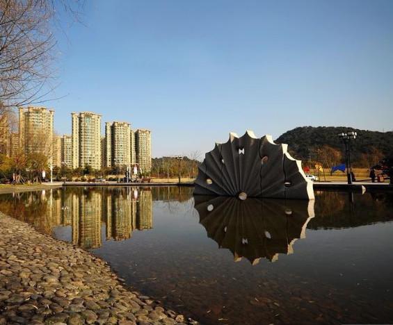 Sunshine- Pink granite - H. 400x800x70 cm. Citizen Park - Taizhou - Zhejiang- China