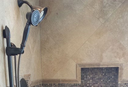 Shower remodeling and shower floor installation service in the Alpharetta, Georgia area