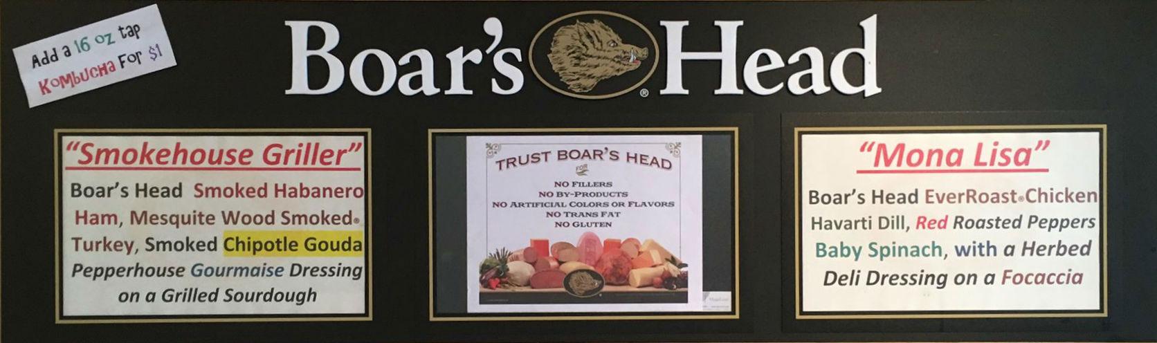 Boar's Head Options