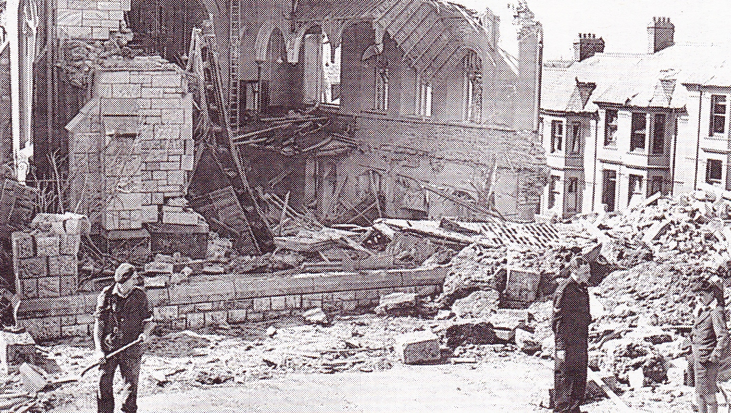 The Front of the Church was Completely Destroyed