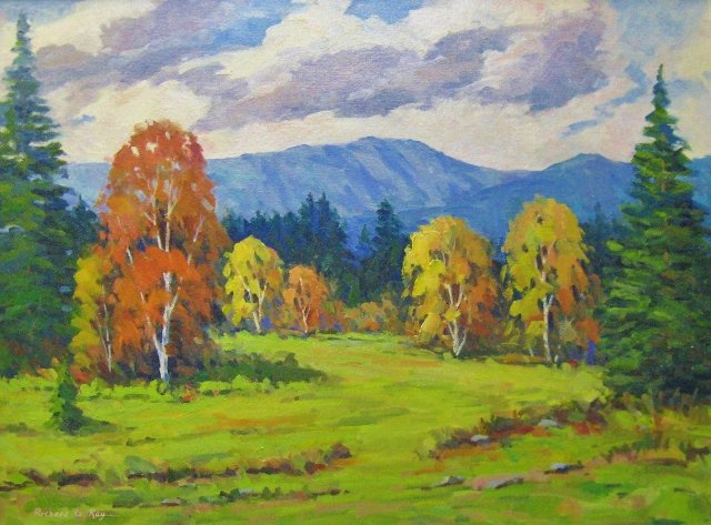 Fall Color, Southern Vermont, 18 x 24 Oil