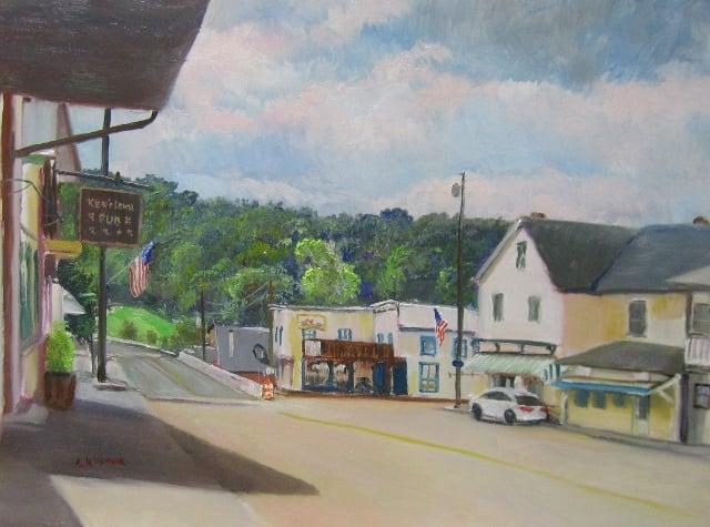 84. Life in Friendsville, 12x16 oil on panel