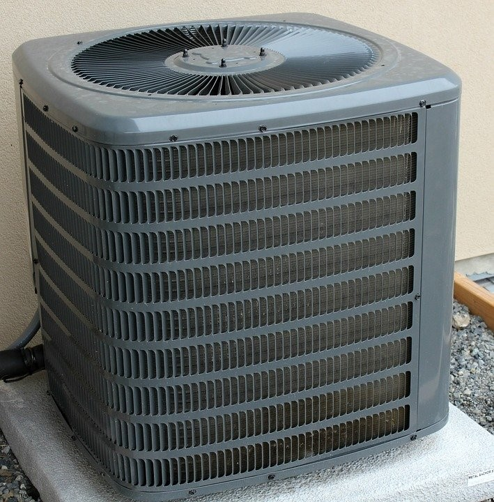 An AC unit maintained by Shriver Mechanical