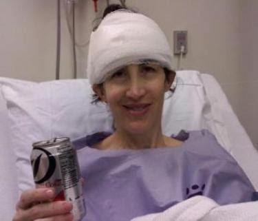 Extremely grateful for my diet coke  after gamma knife surgery at  UVa - 2013