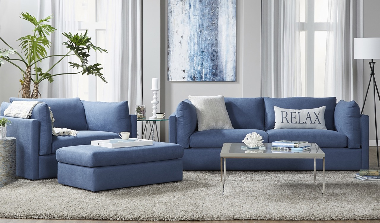 18200 Sofa and Cuddle Chair Image Navy