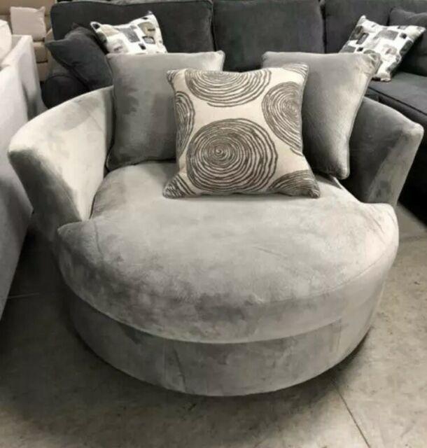 Olympian Silver Tub Chair