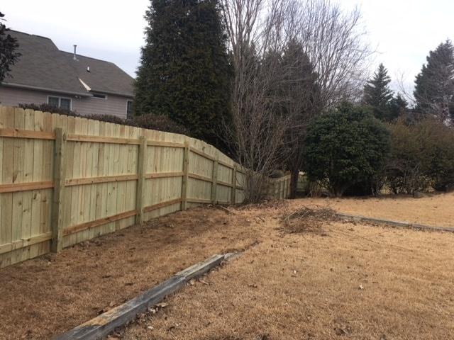 Standard Wood Fence