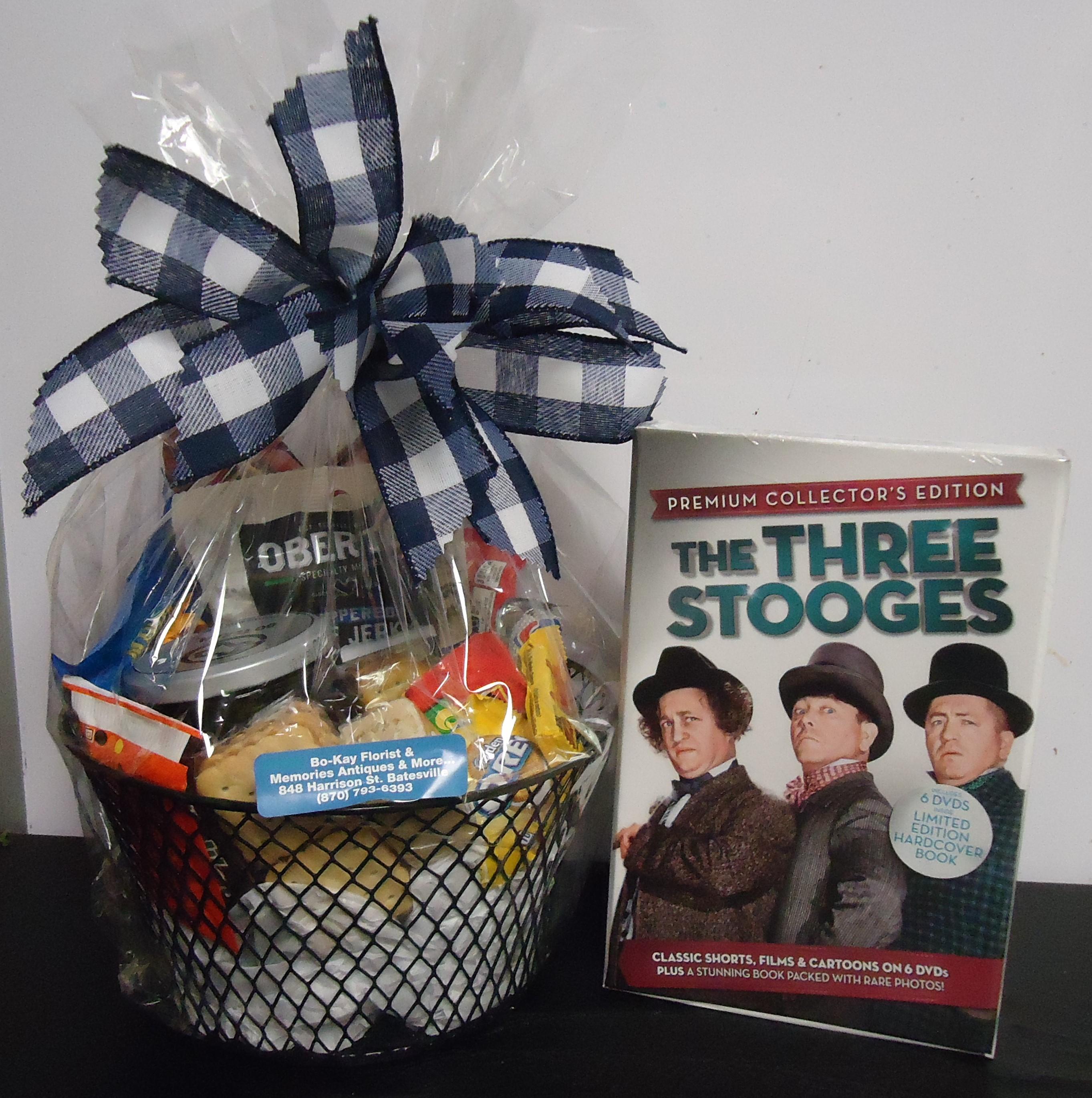 (11) Goodie Basket  W/ DVDS (Three Stooges) $40.00