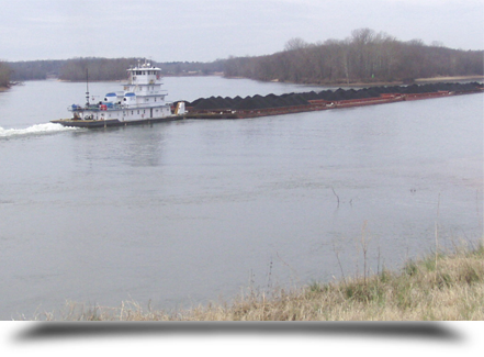 Towboat with goods||||