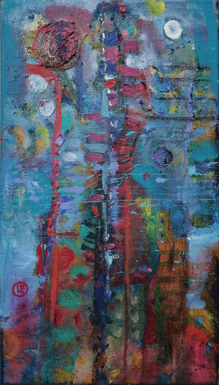 Esencia II óleo s/tela 39.5 x 24.5 cms.