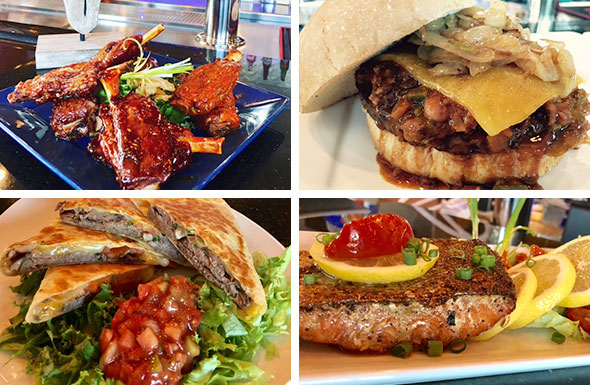 BBQ Back Ribs, Meaty And Cheesy Burger, Quesadilla, Fish Steak
