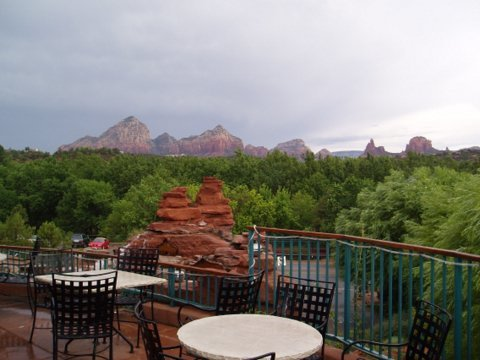 Eat your morning breakfast by looking over the mountains at the Omni Ranch in Tucson, AZ.