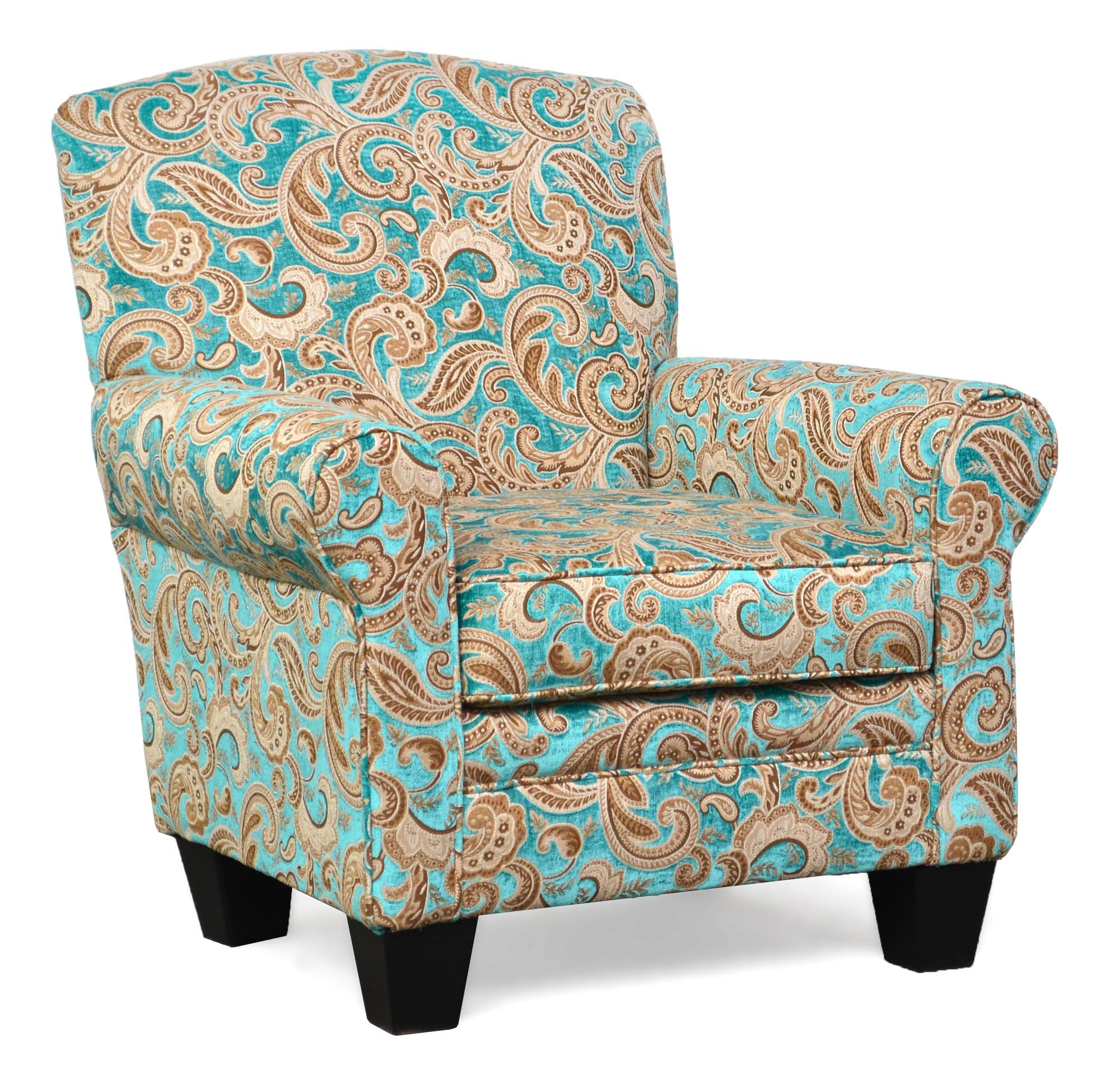 500 Quinn Turquoise Accent Chair