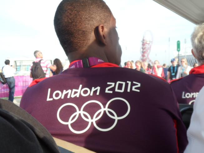 One of the many volunteers in the Olympic Park