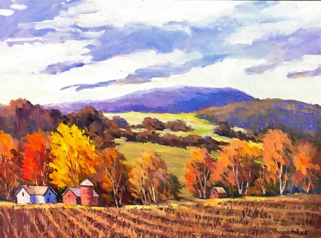 Berkshire Farm, 18 x 24 Oil
