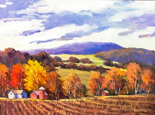 "Richard G. Ray, Berkshire Farm, 18"" x 24"" Oil on Canvas"