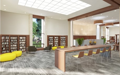 Coral Gables Library Back Reading Area William B. Medellin Archirect, PA XpressRendering, Inc.