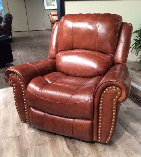 nailhead leather rocker recliner chair - Leather Rocker Recliner