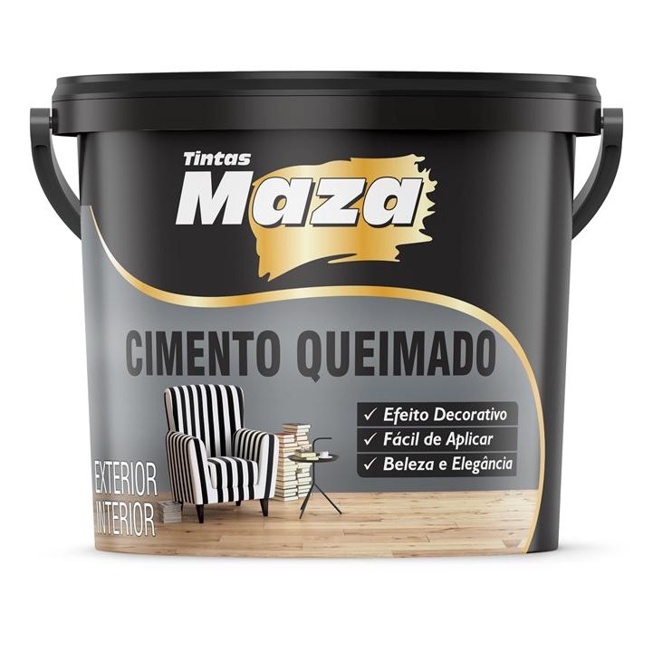 TEXTURA EFEITO CIMENTO QUEIMADO CINZA MAZA 5KG