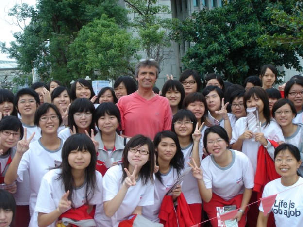 With Taiwanese youth