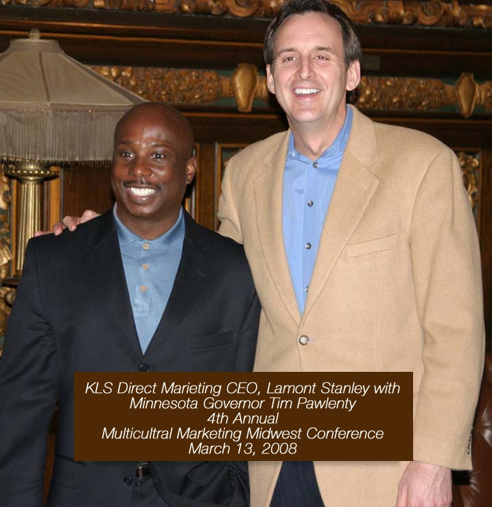 Lamont Stanley With Tim Pawlenty