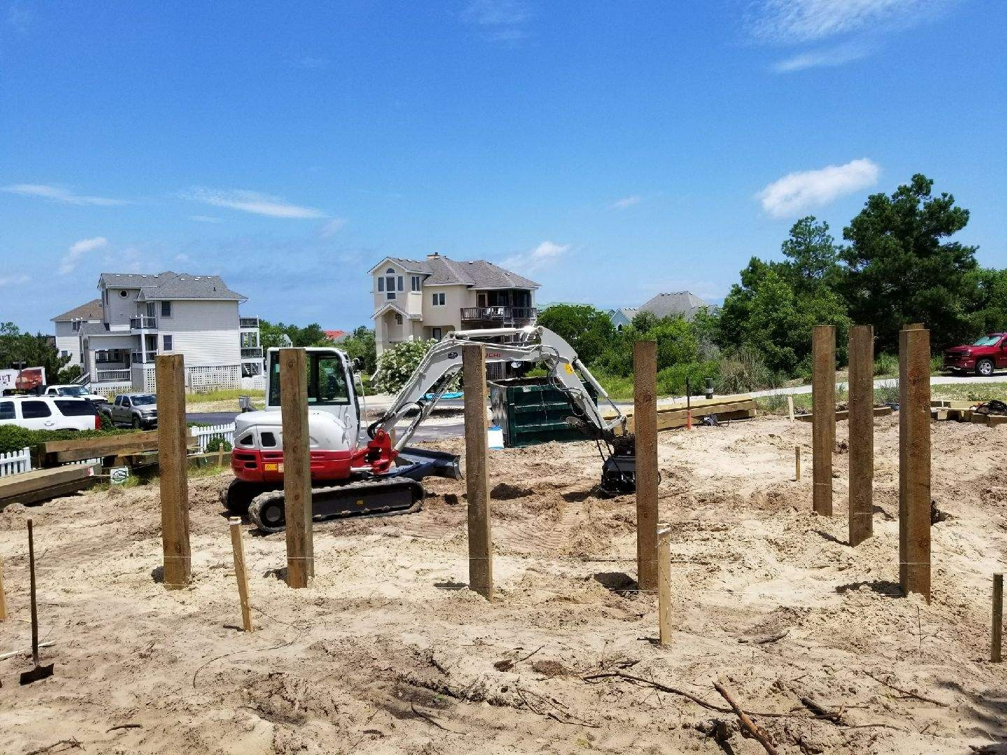 New House Pilings