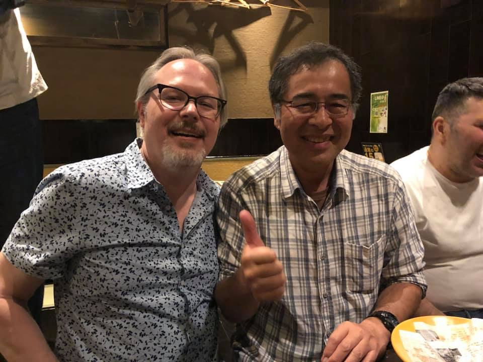 Tex with Takahashi san - always a pleasure to see a good friend.