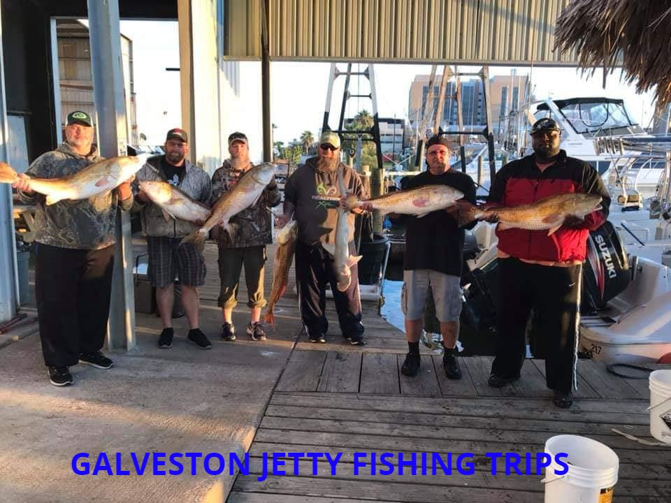Galveston Trophy Bull Red Jetty Fishing Trips