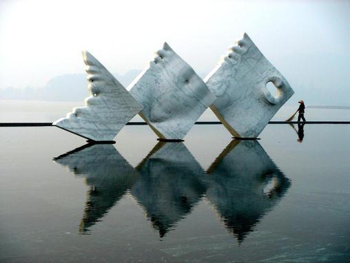 Mermaid - marble , L.980 cm -  Shanghai Sculpture Park- Shanghai - China