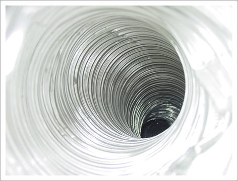 Inside of dryer vent||||