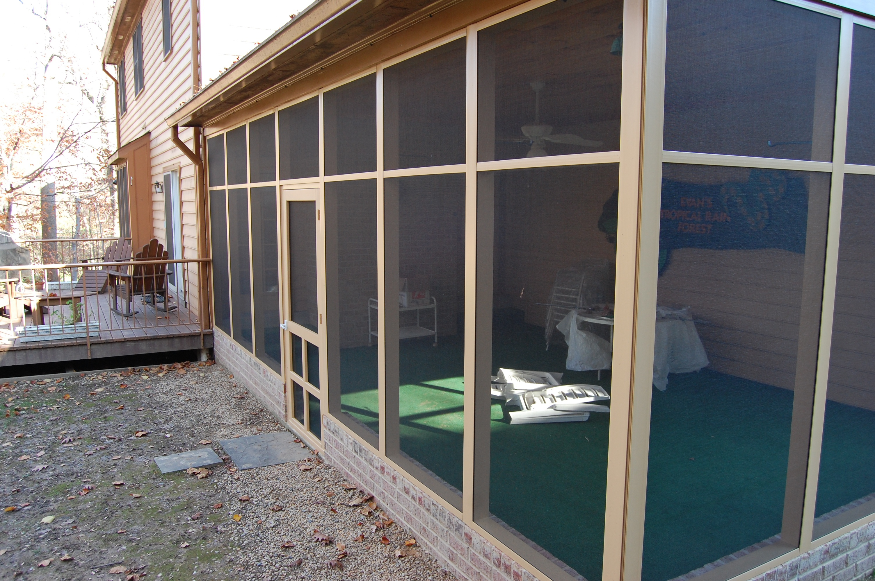 screen porch remodel after