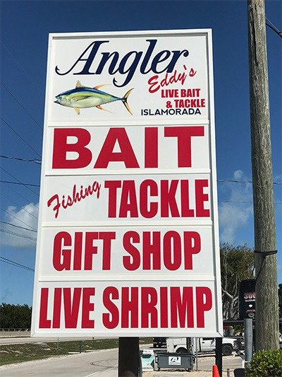 Live Bait and Tackle Shop Sign