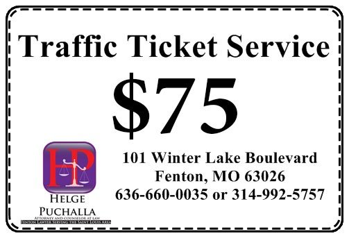 Traffic Ticket Service Coupon