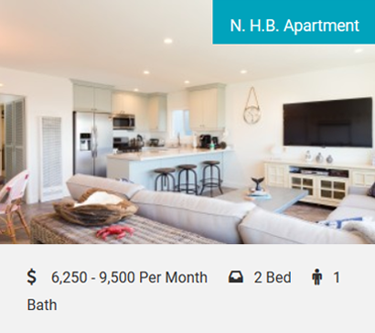 N.H.B. Apartment Cool Beach Pad Across the Street From the Beach! Cozy 2-bedroom, 1-bath duplex, sleeps 8, 2-car garage. Just steps to the beach! This beautiful, newly remodeled home in the highly…