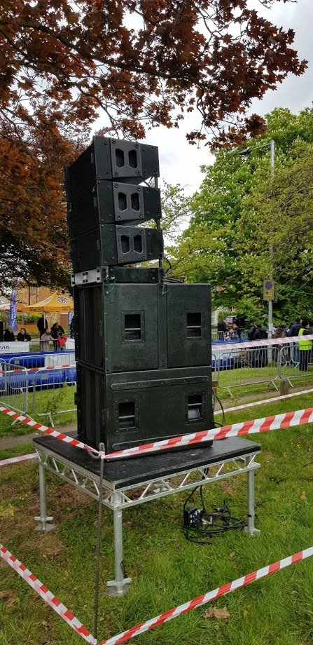 Outdoor pa system hire