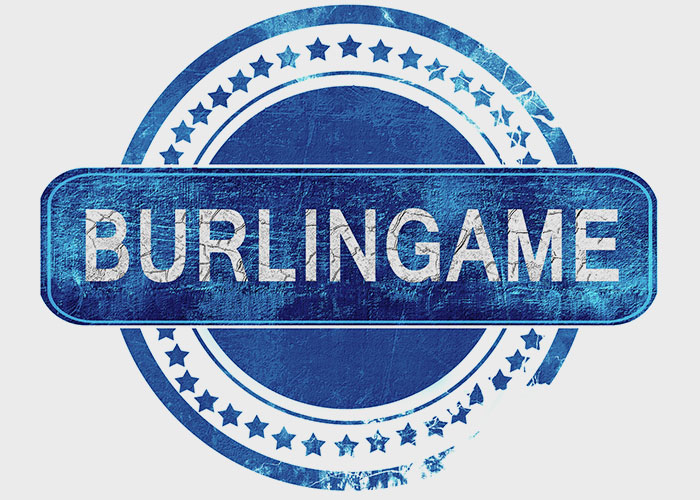 Burlingame Grunge Blue Stamp