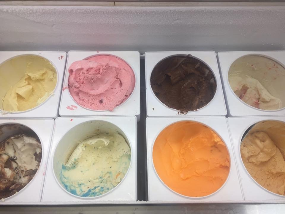 Various Ice Cream Flavors