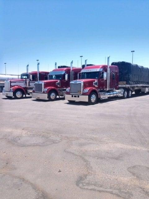 Three Big Trucks Courtesy of Max Striker Trucking